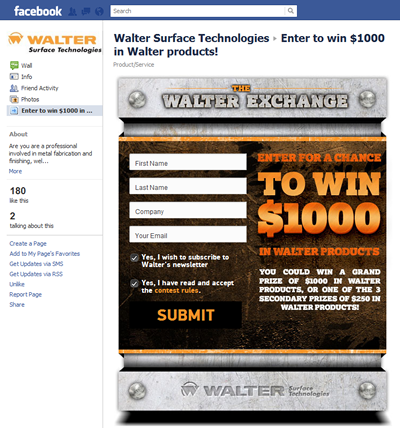 Walter Surface Technologies Contest